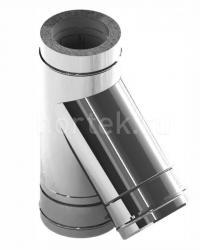 Дымоход из нержавеющей стали, тройник 45° Jeremias DW12