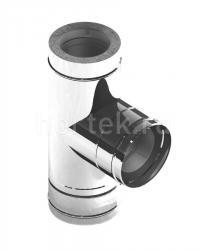 Дымоход из нержавеющей стали, Тройник 90° Jeremias DW317