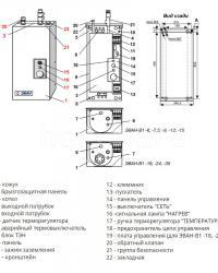 Схема, электрический водонагреватель ЭВАН В1