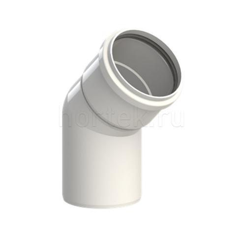 Отвод 45 град. 80 мм, пластик, прозрачный