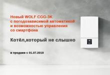 Новый котёл WOLF CGG-3K