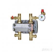Пластинчатый теплообменник для разделения контуров 12 кВт